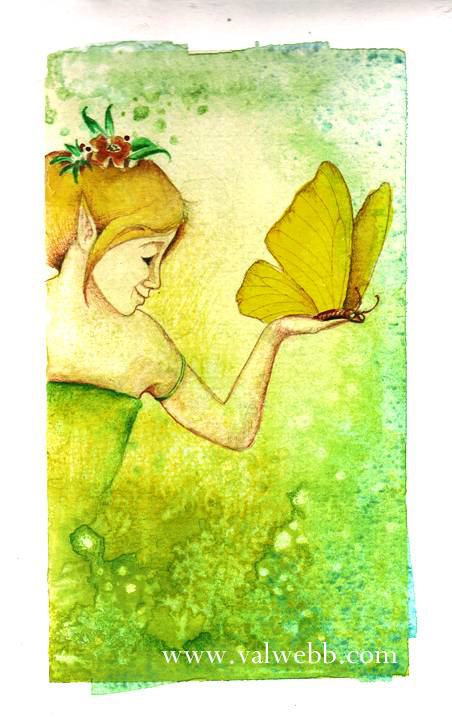 watercolor fairy sketch copy