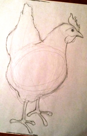 L5 chicken sketch
