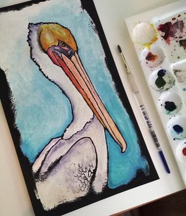 Val Webb pelican