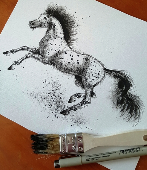Chip brush horse