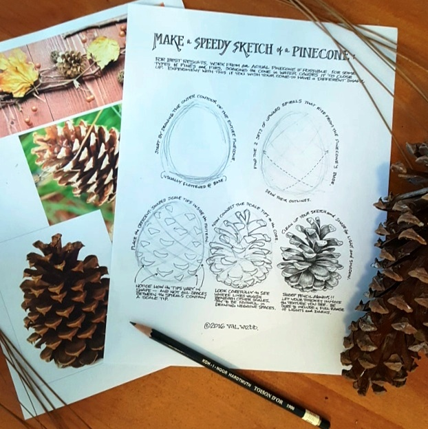 pinecone printable