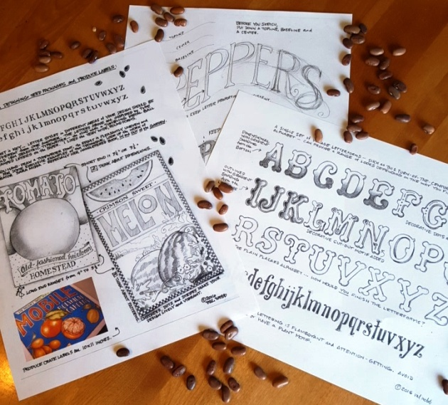 Seed Package Printables