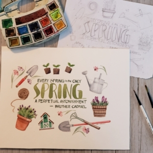 LL brush lettering